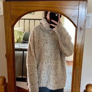 Zara Knit Oversized Tan & Multi Turtleneck - Med